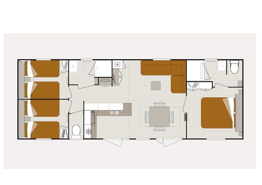 MOBIL-HOME EVASION - O'hara 1064 - 3 chambres 2 salles de bain